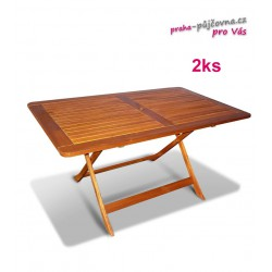 Dřevěný skládací zahradní stůl
